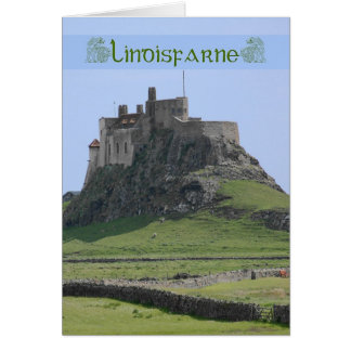 Blank Note Card of Lindisfarne the holy island