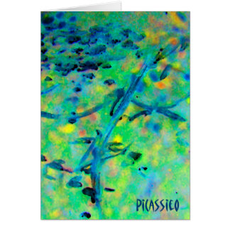 Blank Note Card with colorful PiCassieO art