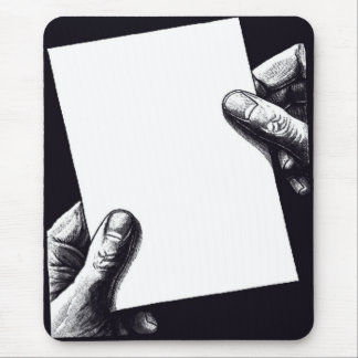 blank note paper mouse mat