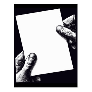 blank note paper postcard