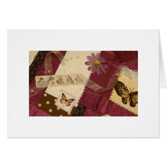 Blank Notecard - Butterfly Collage