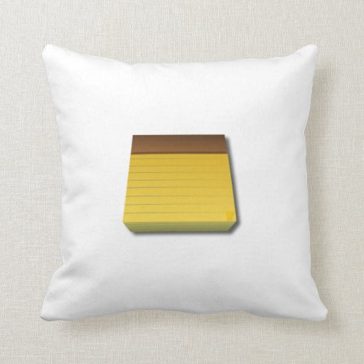 Blank Notepad Pillows