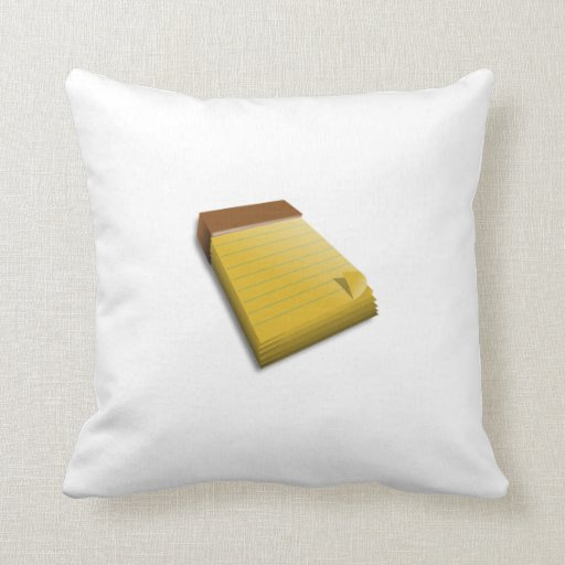 Blank Notepad Pillow