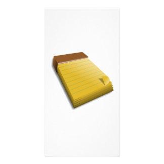 Blank Notepad Photo Greeting Card