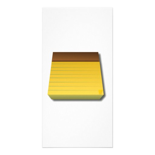 Blank Notepad Photo Card