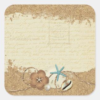 Blank Ocean Beach - Customizable Packaging Square Sticker