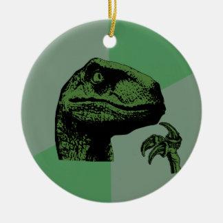 Blank Philosoraptor Christmas Ornament