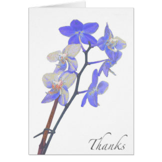 Blank Purple Orchid Thank You Card