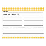 Blank Recipe Cards: Gingham Dreams Post Card