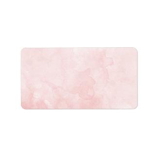 Blank Rose Blush Watercolor Address Label