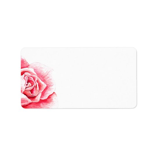 Blank Rose Watercolor Label