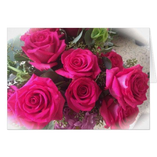 Blank Roses Greeting Card
