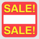 Blank sale discount or price stickers