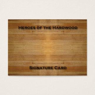 Blank Signature Card for basketball autographs!