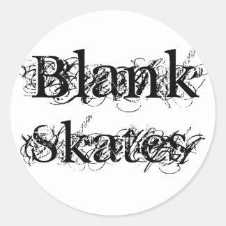 Blank, Skates Classic Round Sticker