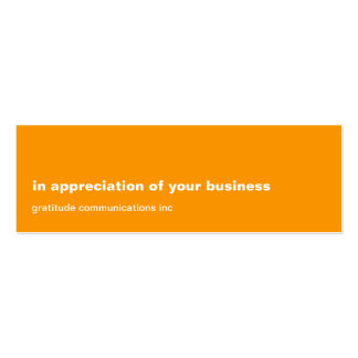 Blank Slate Orange Appreciation Business Card Templates