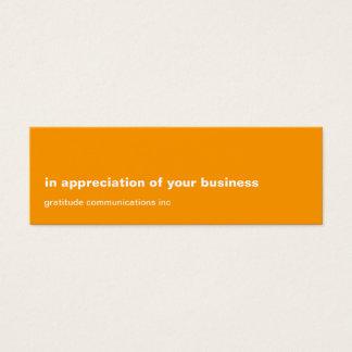 Blank Slate Orange Appreciation Mini Business Card
