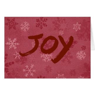 Blank snowflake holiday card