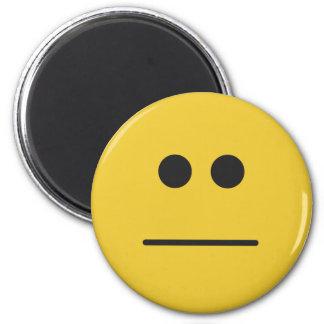 Blank Stare 6 Cm Round Magnet
