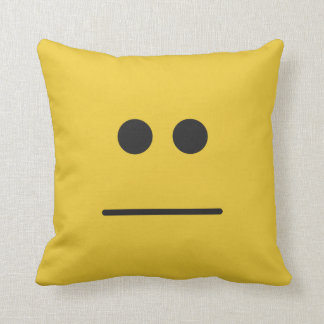 Blank Stare Throw Pillow