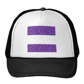 BlanK STRIPE Template DIY add TXT IMAGE EVENT name Mesh Hats
