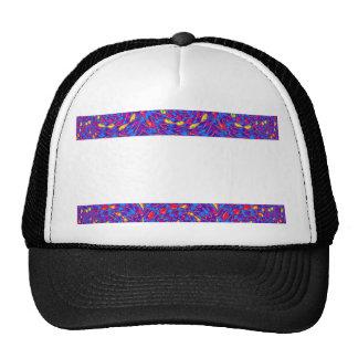 BlanK STRIPE Template DIY add TXT IMAGE EVENT name Mesh Hat