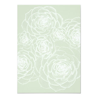Blank Succulents Outline Wedding Paper Card