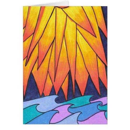Blank-Sun Kissed Waves Card