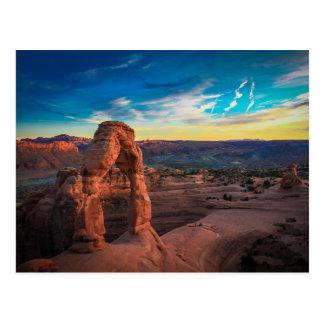 Blank Sunset at Arches National Park Utah Postcard