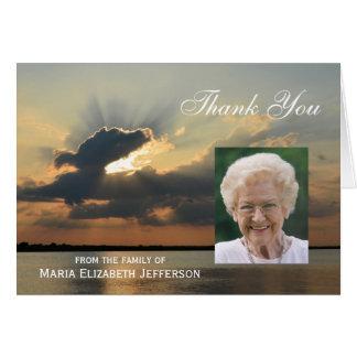 Blank Sunset Sympathy Thank You Card