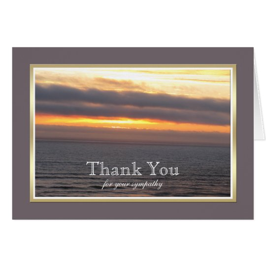 Blank Sympathy Thank You Note Card