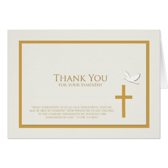 Blank Sympathy Thank You Note Card -- Christian