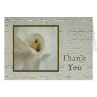 Blank Sympathy Thank You Note Card - Gardenia