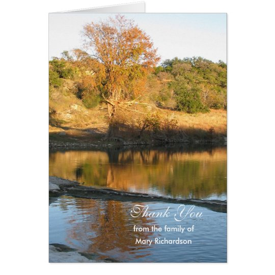 Blank Sympathy Thank You Note Card - River