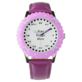 Blank Template (Korean Face) by Kenneth Yoncich Wrist Watch