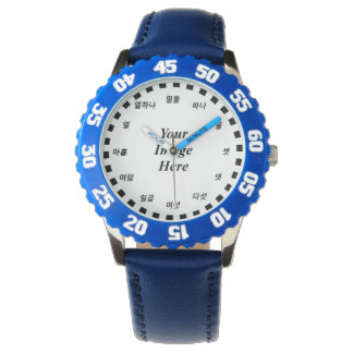 Blank Template (Korean Face) by Kenneth Yoncich Wrist Watches