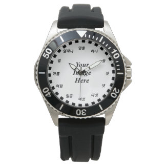 Blank Template (Korean Face) by Kenneth Yoncich Wristwatch