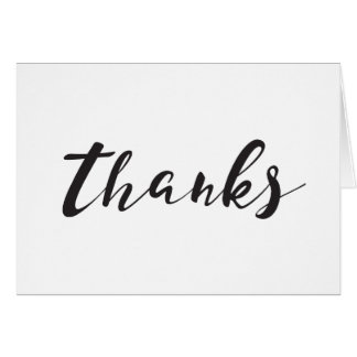 Blank Thank You Card