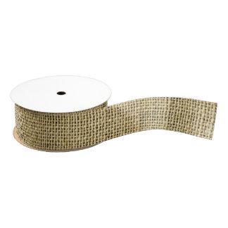 Blank Vintage Beige Burlap Inspired Grosgrain Ribbon
