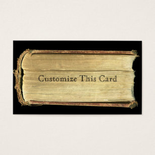 Old blank business cards business card printing zazzle uk blank vintage paper library rustic old book pages business card colourmoves