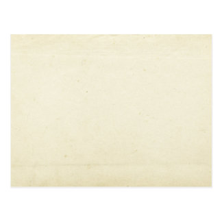 Blank Vintage Paper Postcard
