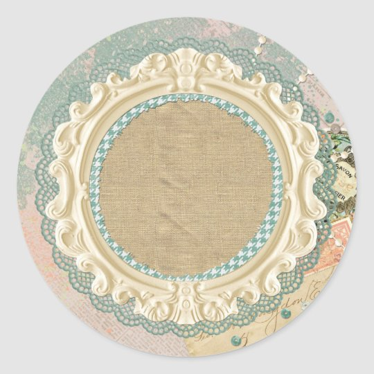 Blank Vintage Paris - Customisable Packaging Classic Round