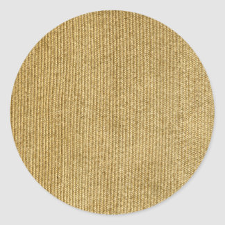 Blank Vintage Wicker Woven Inspired Classic Round Sticker