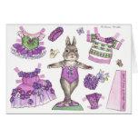 Blank Violet Paper Doll Card
