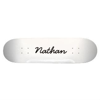 Blank white 19.7 cm skateboard deck