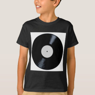 Blank White Record Label T-Shirt