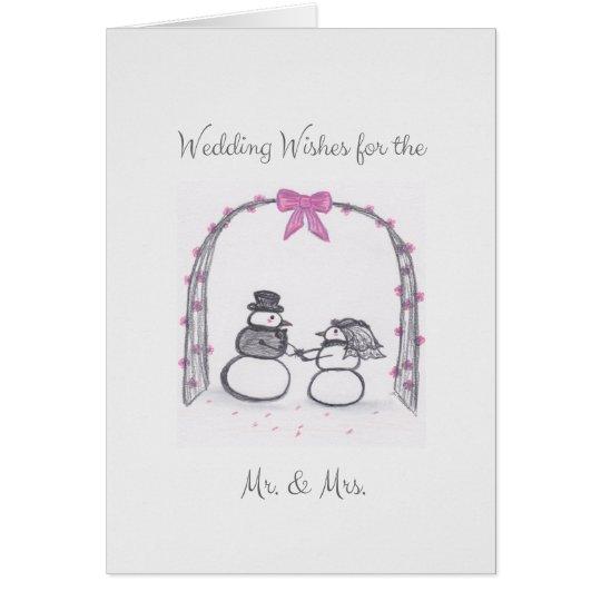 Blank Winter Wedding Greeting Card