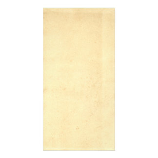 Blank Yellowed Antique Paper Custom Photo Card