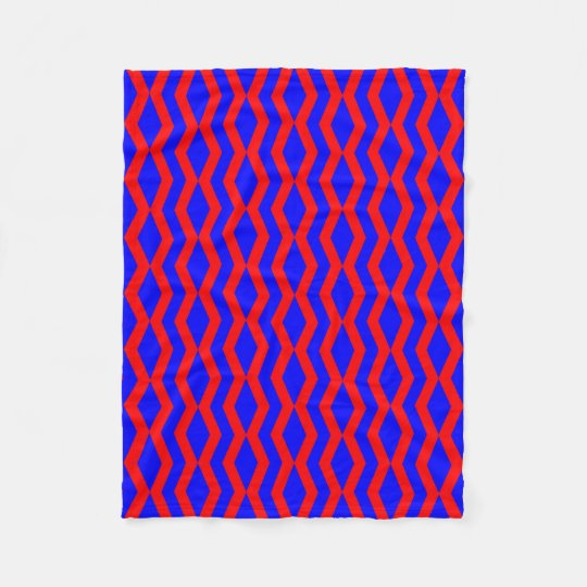 Blanket: Blue Red linked Diamonds Fleece Blanket
