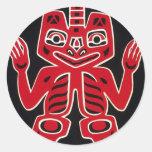 Blanket Design Of The Haida ~ Alaska Stickers